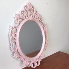 Spiegel Wandspiegel Antik-Stil Barock 84x57cm Hängespiegel Flurspiegel Rosa Neu