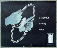 FIAT CAR RANGE LF Sales Brochure 1950s 600 - 1100 - 1400 - 1900