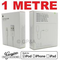 GENUINE 1M APPLE LIGHTNING USB CHARGER LEAD CABLE FOR IPHONE X 7 6 5 IPAD 4 AIR