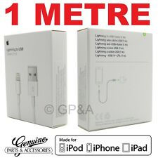 GENUINE APPLE LIGHTNING USB CHARGING CABLE 1M IPHONE 5 6 7 8 X