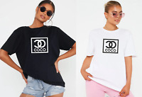 Ladies Lazy CO COCO Short Sleeve Summer Print T Shirt Fashion Loose Fit