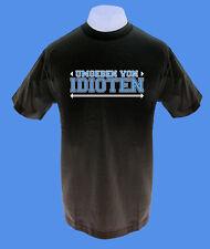 Männer Herren T-Shirt Umgeben von Idioten schwarz bedruckt cool move2be M