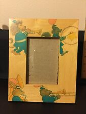 Vintage Fetco Handcrafted Wooden Picture Frame With Animals