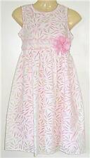 Girls white pink lined party SUMMER dress sz 6 NEW bnwt