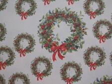 10 x Couronne de Noël papier 100GSM 1-SIDED (Blanc inverse) fabrication cartes