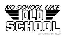 OLD SCHOOL-Car Decal Sticker Japan Nissan Biker Rockabilly HOT ROD VW Audi 014