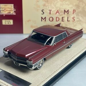 1/43 GLM Stamp Cadillac Coupe Deville 1964 Matador Red Metallic STM64603