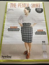 Simply Sewing Pencil Skirt Sewing Pattern Sizes 4-20. Easy To Improver Sewers