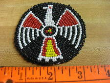 3 Inch Beaded Rosette Bead Bead Work Craft Non Native Sew On Black