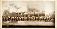 """1907 Largest Railroad Engine in the World Panoramic Photo Reprint 13"""" Long"""