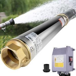 """Bomba de Agua Sumergible 1.5HP 4"""" Bomba de Pozos con Caja de Control y Cable 40m"""