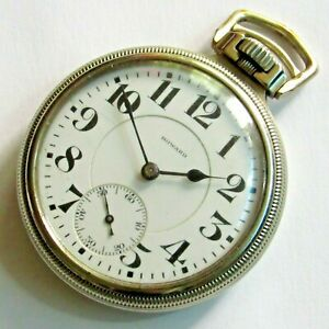 E. Howard Series 10 Railroad Pocket Watch 16 size 21 jewels Gold filled RUNS