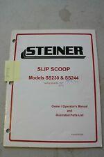 Steiner 230 Amp 244 Slip Scoop Operators And Parts Manual