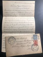 1909 Łowicz Poland Russia Empire Cover To Chicago IL USA W Letter