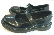 Girls Dr Martens Shoes Black Patent Leather Mary Jane UK Size 13