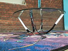 ROGER SPRUNGER CHROME TABLE FOR DUNBAR USA MID CENTURY MODERN DESIGN COFFEETABLE