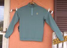 Men's Peter Millar Crown Sport 1/4 Zip Pullover OLD MEMORIAL TAMA  Bluish Green