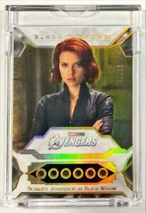 2021 Marvel Black Diamond Scarlett Johansson Black Widow Infinity Stones 15/23
