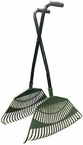 Leaf Grabber Plastic Long Handled Garden Patio Debris Rake Collector Hand Tool