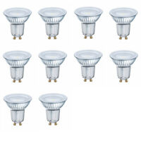OSRAM LED SUPERSTAR PAR16 GU10 8W=80W 575lm 120° warm weiß 2700K dimmbar A+ 10er