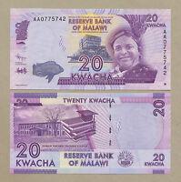 MALAWI  20 kwacha  2012  Uncirculated  Banknotes