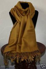 Pashmina Mustard  (Greeny Gold), Cashmere/Silk