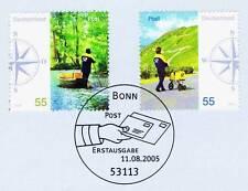 BRD 2005: carta notificación del post nº 2481+2482 con primero sello etiquetas! 1a 1510