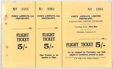 BS5 1930s GB WALES AVIATION *Pines Airways Ltd* 5s Flight Ticket Porthcawl Glam