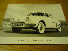 RENAULT DAUPHINE PRESS PHOTO Brochure connected  jm