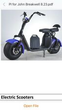SALE PRICES ONLY)ELECTRIC 60V 1200W FAT TYRE (HARLEY) GAEA SPORT SCOOTER