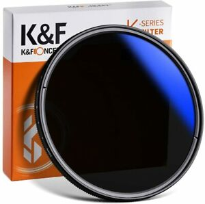 New K&F Concept ND2-ND400 Variable Filter 37/43/46/49/52/55/58/62/67/72/77/82mm