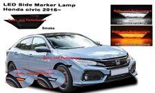 2016 - 2019 Honda Civic JDM Smoked Lens LED Switchback Amber/White Side Markers