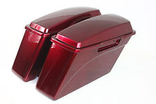 Velocity Red Sunglo ABS Hard Saddlebags For Harley Sportster Dyna Touring Glide