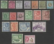 British Somaliland, small group of 19 nice stamps, all reigns