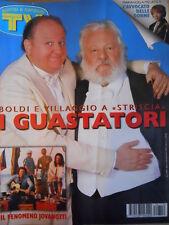 TV Sorrisi e Canzoni n°10 1997 Boldi e Villaggio Melato Lorenzo Jovanotti [D49]