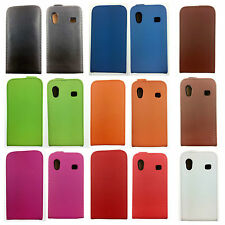 Luxury REAL LEATHER FLIP CASE FOR SAMSUNG GALAXY ACE S5830 UK FREE DISPATCH