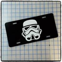New Star Wars Darth Vader//Stormtrooper Metal Black License Plate Frame 1PC