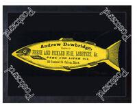 Historic Salem Mass Fishmonger 1880 Advertising Postcard