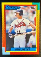 1990 Topps Traded TIFFANY DAVE JUSTICE Rookie #48T Atlanta Braves BEAUTIFUL