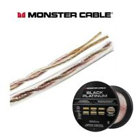 Monster Black Platinum High Performance Speaker Cable XP Clear Jacket 50ft 15m