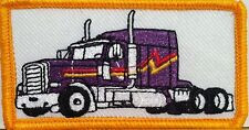 PURPLE TRUCK Color  Iron-On Patch Truck Driver Emblem Gold  Border #8