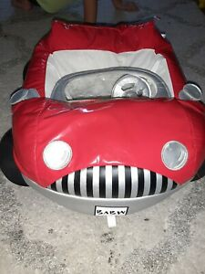 Build A Bear Red Black Plush Sports Convertible Car Seatbelt Soft Toy Stuffed