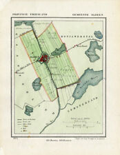 ANTIQUE MAP-NETHERLANDS-SLOTEN -FRIESLAND-KUYPER-1865