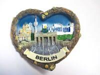 Berlin 4er Collage Herz 3D Poly Fridge Magnet Souvenir Germany