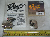 EZ Oil Drain Valve & 90° Hose End for CAT 3116 3126B 3126E & C7. EZ-204 L-002