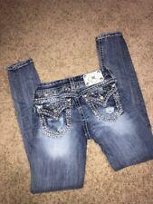 MISS ME Skinny JE84695L Blue Jeans - Size 25 (inseam 33) NICE!