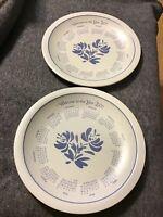 "Pfaltzgraff Yorktowne Dinner Plates LOT of 2 USA 10 1/4"" Diameter Millennium"