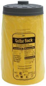 Sacktonne gelb, Mülleimer, Mülltonne, Mülltrennung,  Gelber Sack Ständer