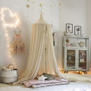 Kids Bed Curtains Baby Hanging Tents Children Room Round Hung Dome Mosquito Nets