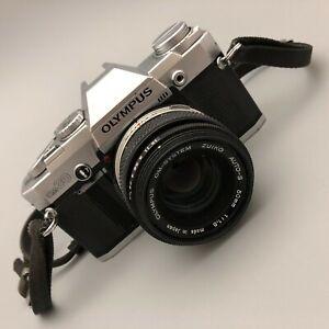Olympus OM30 35mm SLR Film Camera 50mm Zuiko Auto-S Lens 1:1.8 16065 CP